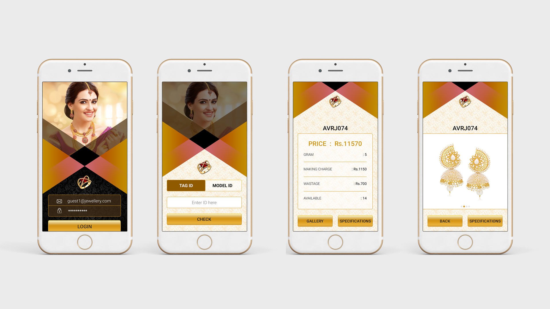 Best UI & UX Design For Jewelry App