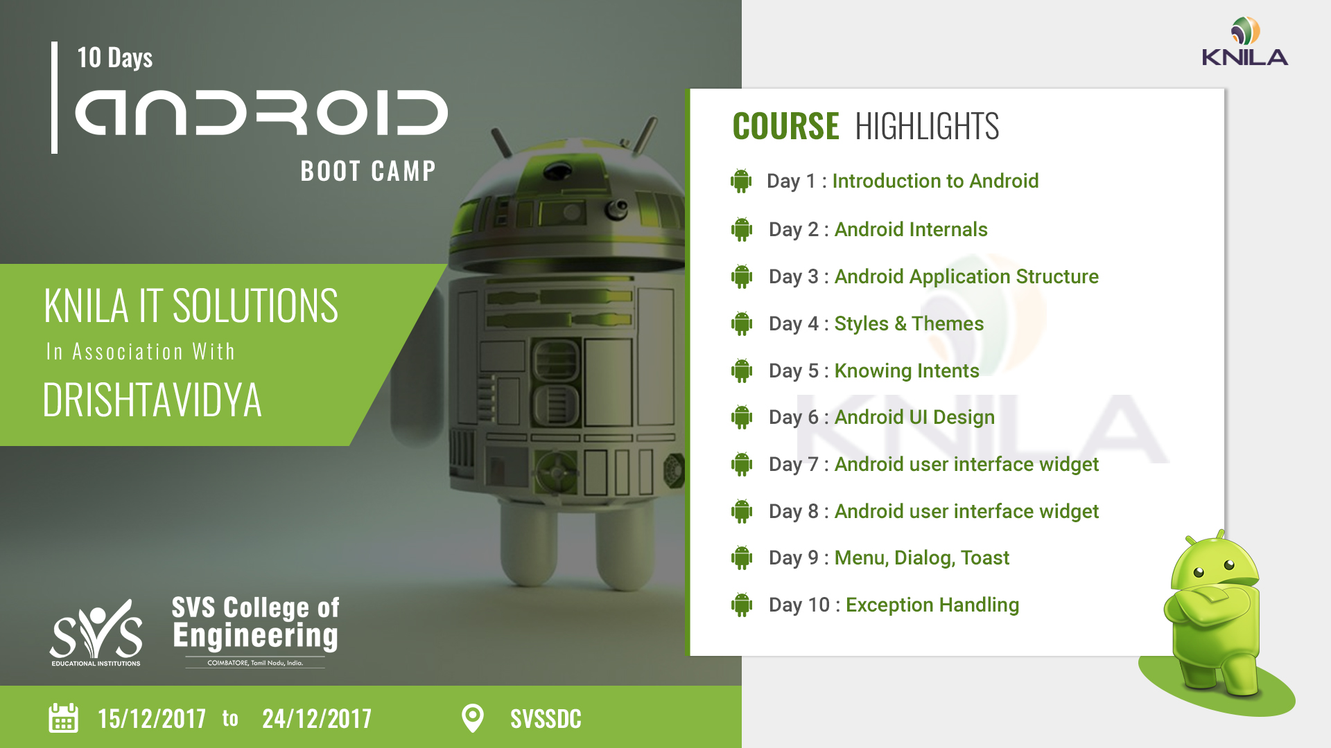 Android Workshop at SNS College