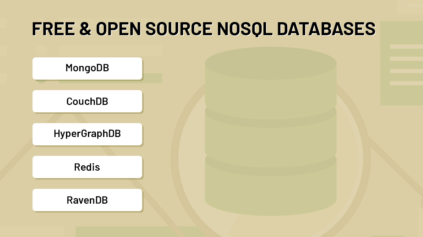 Free and open source NoSQL databases