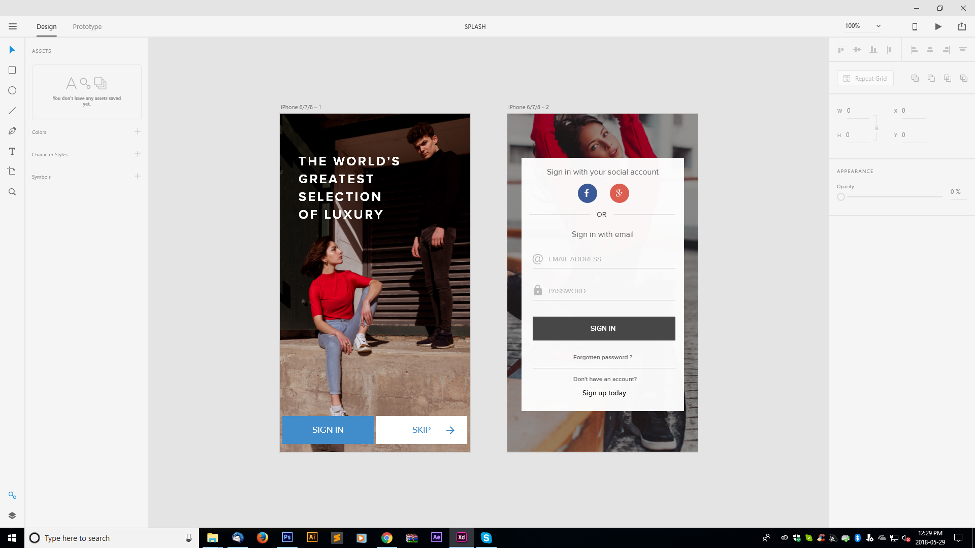 Adobe XD Live Project - KNILA